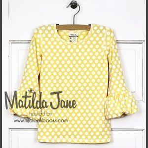 Matilda Jane size 12 Soft Sunshine Puffer Tee- EUC